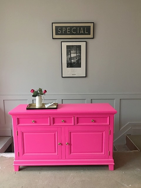 Do not adjust your sets, this is modern up-cycling at it's bright and beautiful best!