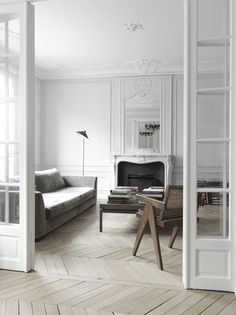 Elegant panelling inspo from the Parisians
