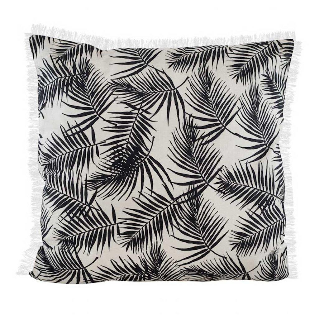 Palm print tassle cushion  www.featherandnest.co.uk