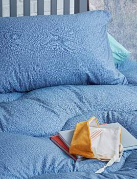 Boy proof blue washable printed duvets from £32.50 at  Marks and Spencer.