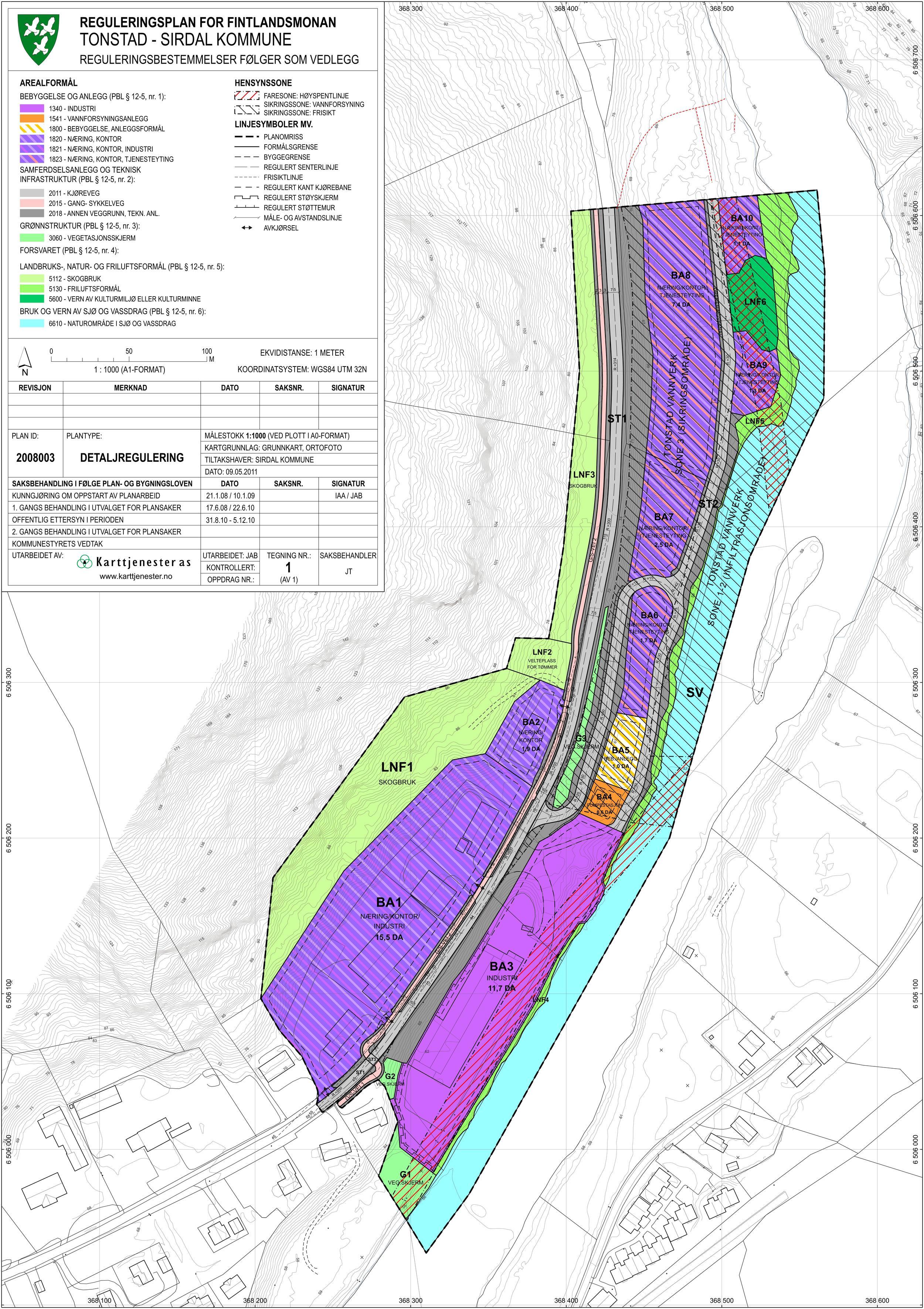 Reguleringsplan for industriområde Fintlandsmonan, Tonstad / Sirdal kommune