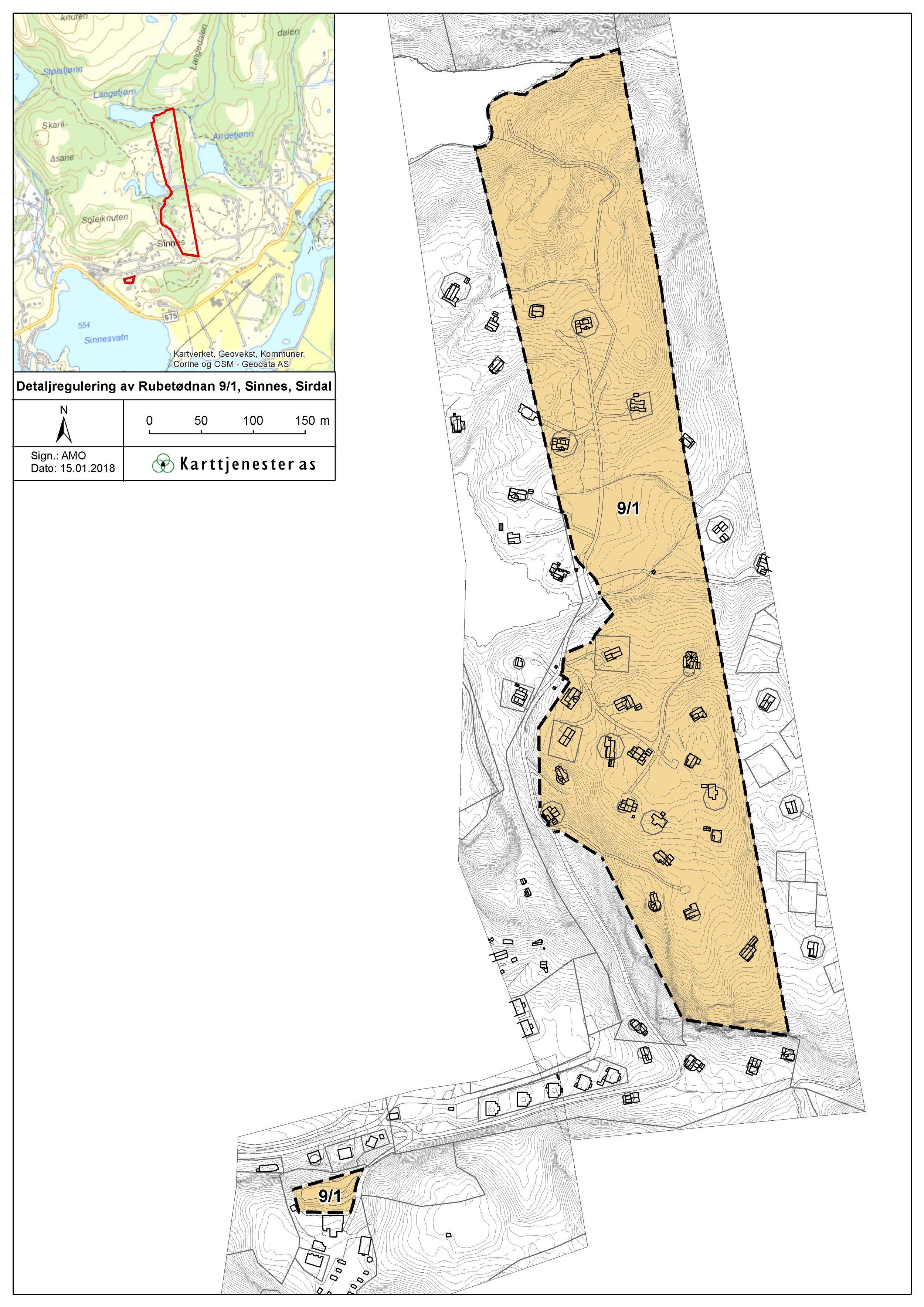 Kart over planområdet