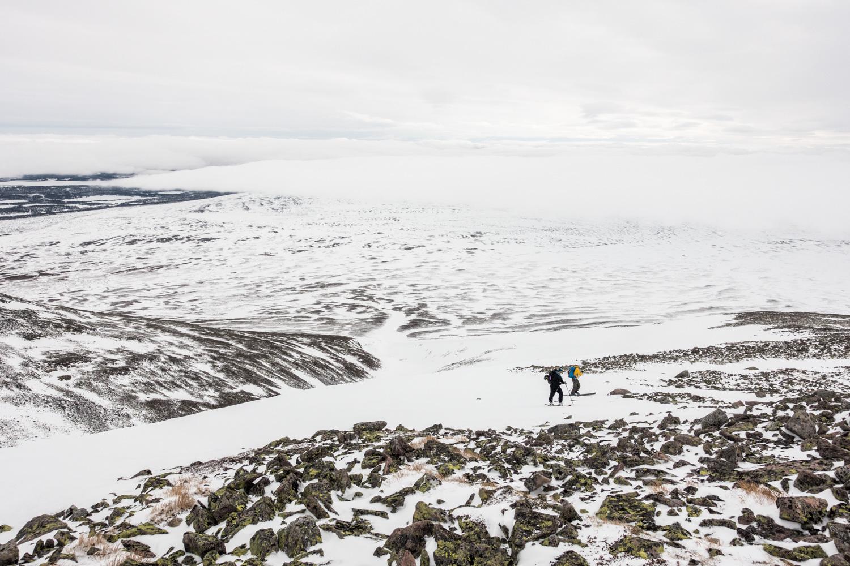 Halfway up Midtre Sølen.