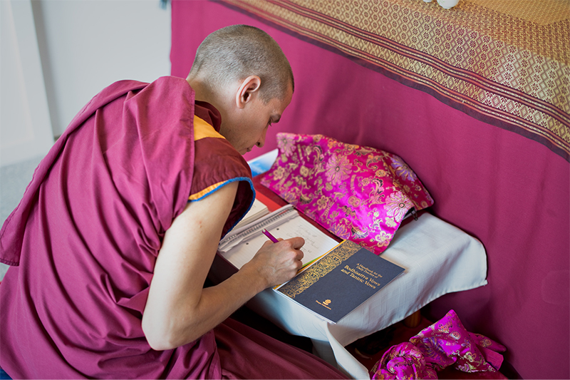 Preparing notes for teachings.