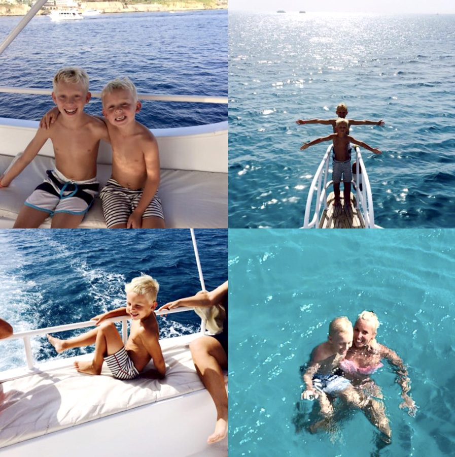 Archie on holiday in Egypt with his family
