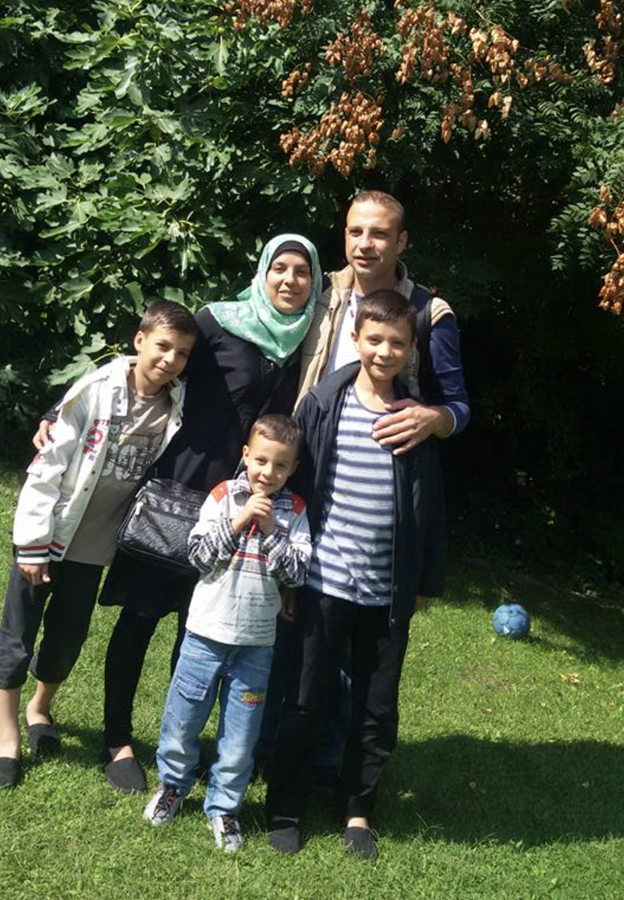 Alaa and his family in Germany