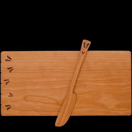 Butterfly wooden cheese board