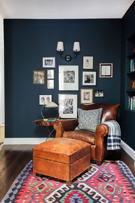 This eclectic nook by Wife in Progress shows how color and pattern can be oh-so-calming.