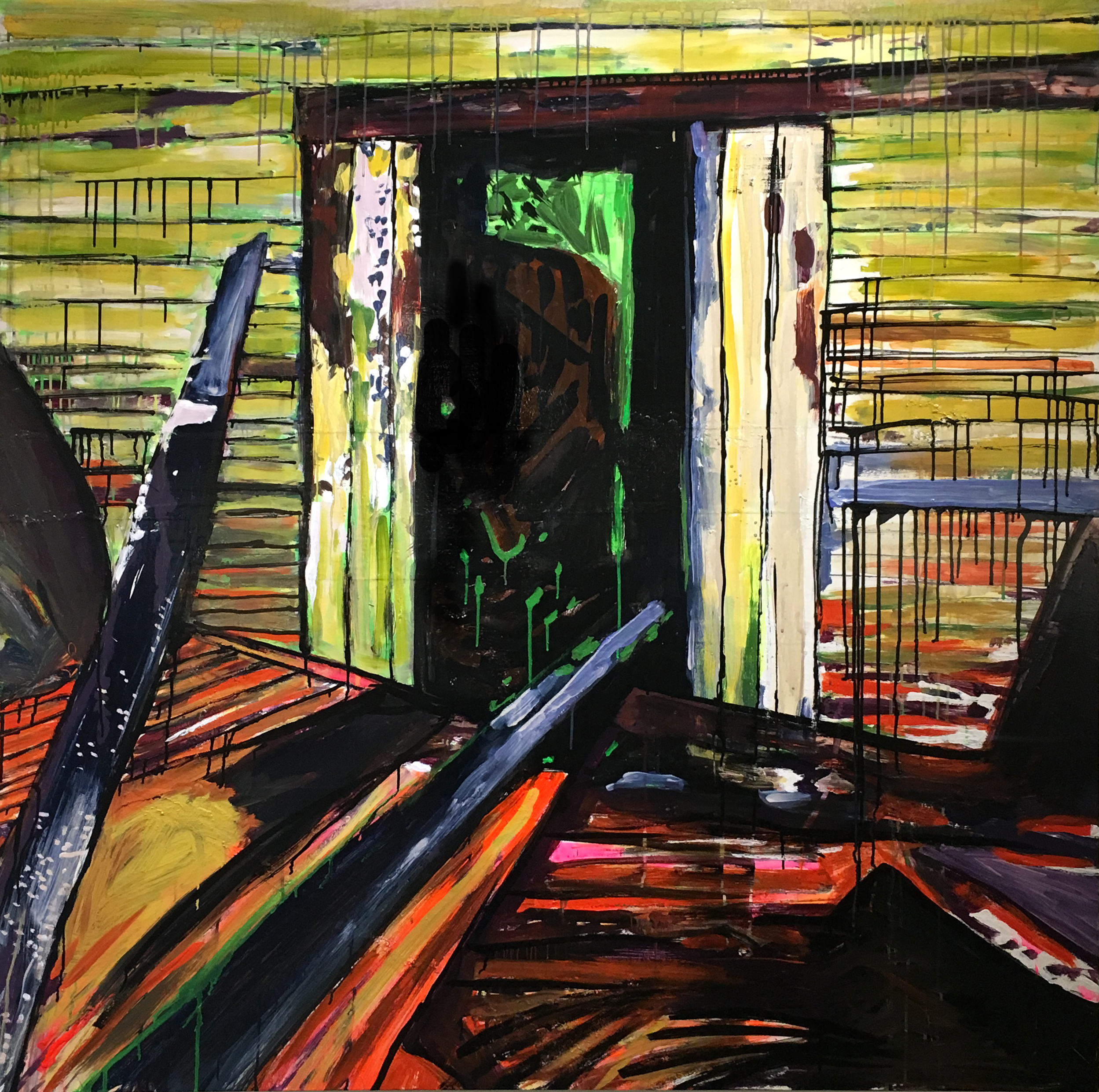 Untitled (Lime Door)