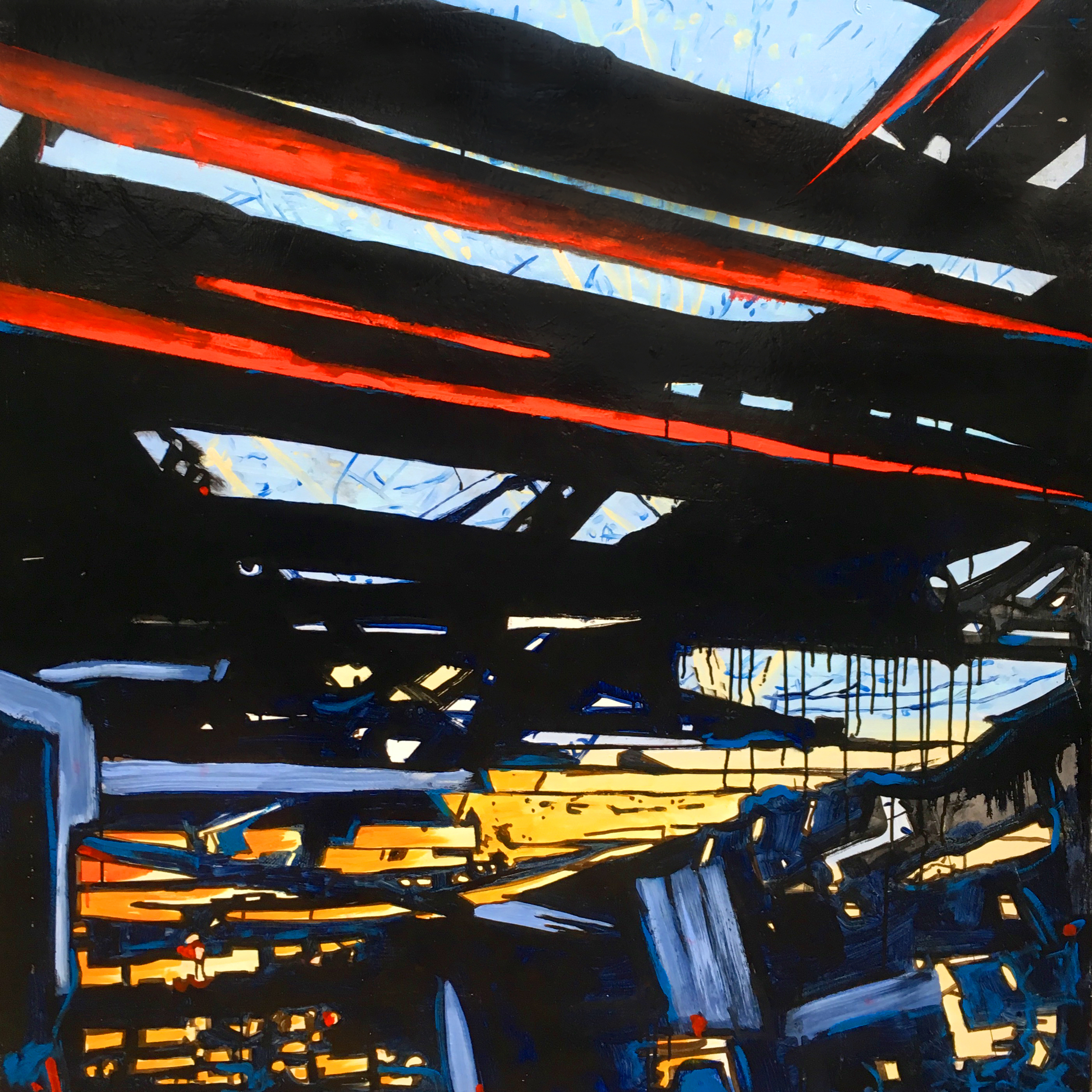 Untitled (Red Beams)