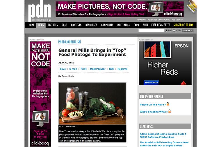 pdn general mills top ten food photographers