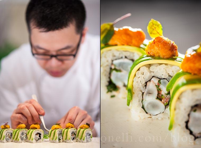 Shrimp Uni Ceviche Roll