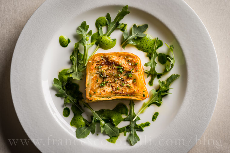 Goat cheese potato terrine