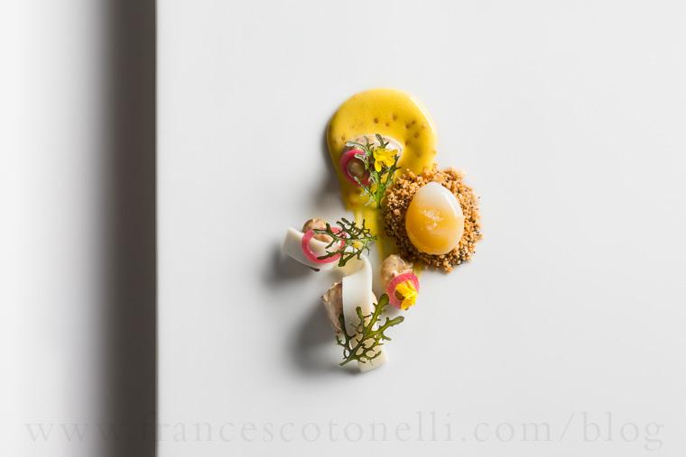 Smoke Plate with Quail Egg