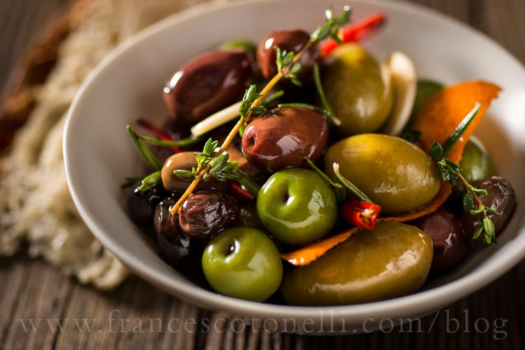 Olives with Balsamic Vinegar