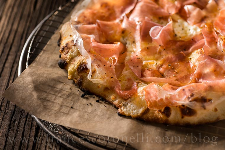 White Pizza with Prosciutto