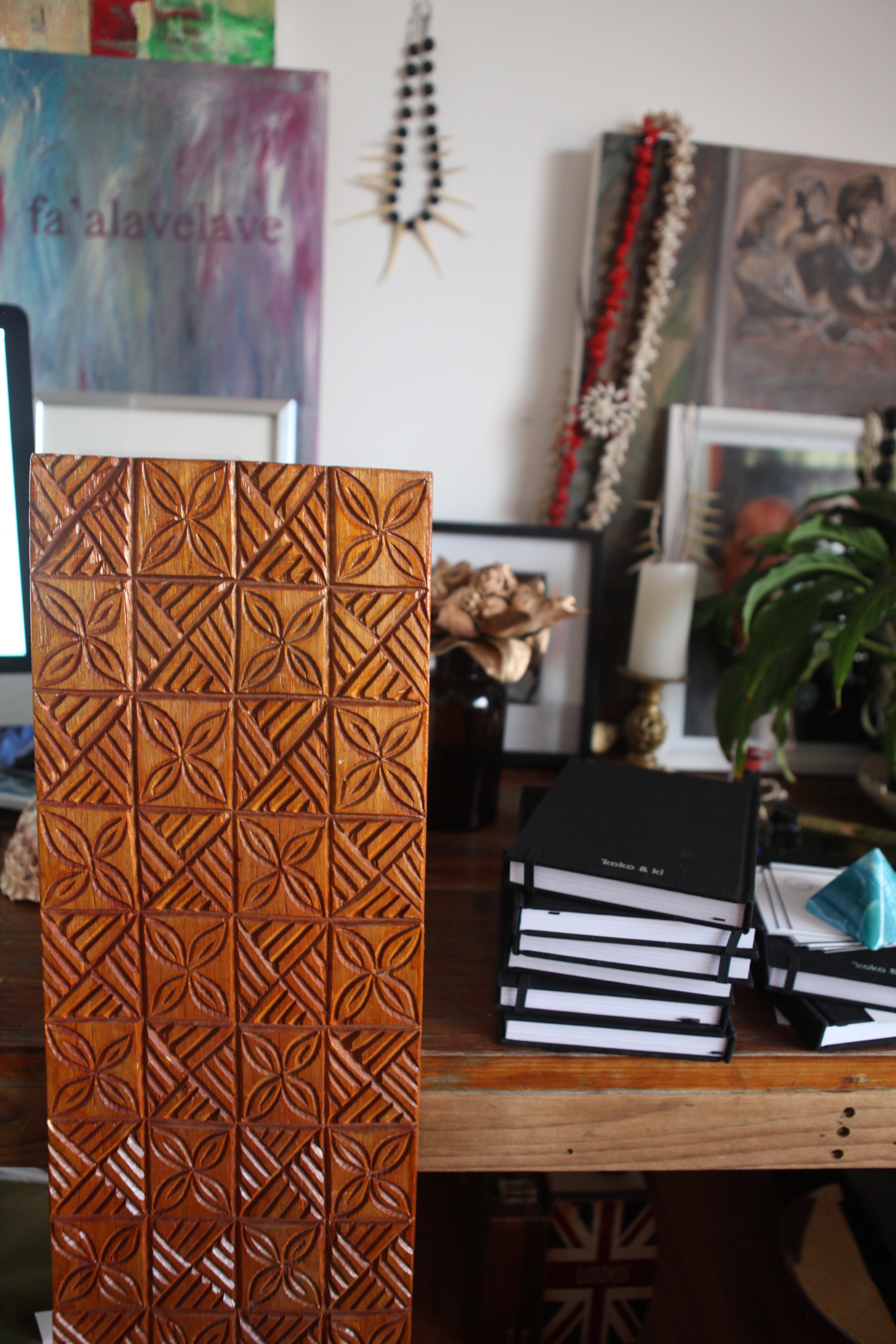 my elei board that once belonged to my dear Aunt. Can you see these patterns on that table above?