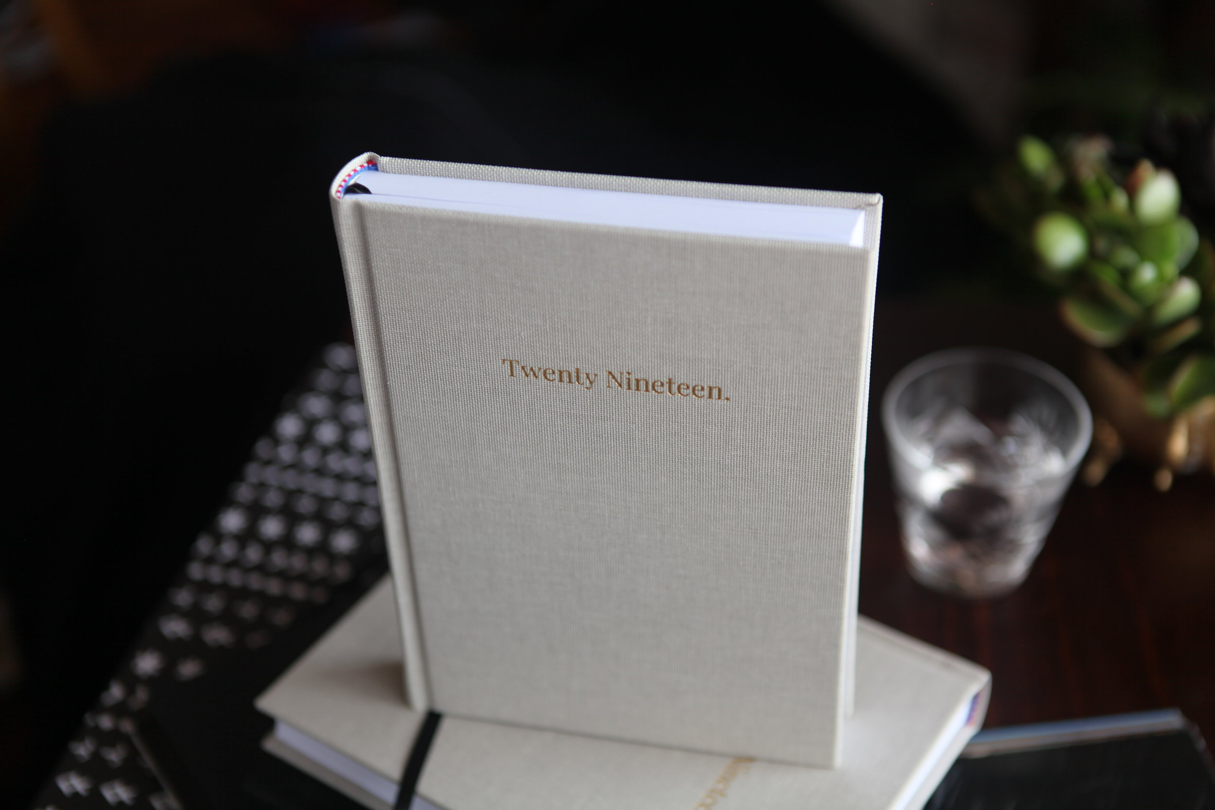 "Gold foil detail "" Twenty Nineteen"""