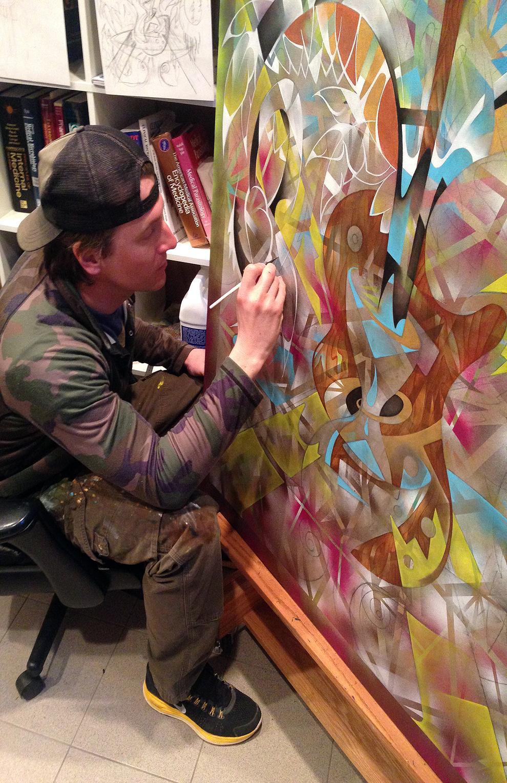 "Catskill studio. 2014. ""Fountain of Youth"""