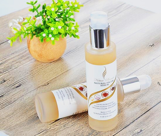 4 Oz. bottles of Master Hou's Natural Facial Serum for preventing and reducing wrinkles and skin problems.