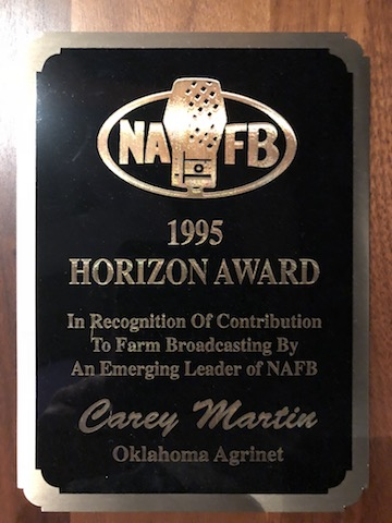 I was honored to be named the recipient of the first-ever NAFB Horizon Award. Unfortunately, I don't feel that I've lived up to the award's expectations, but there's still time.