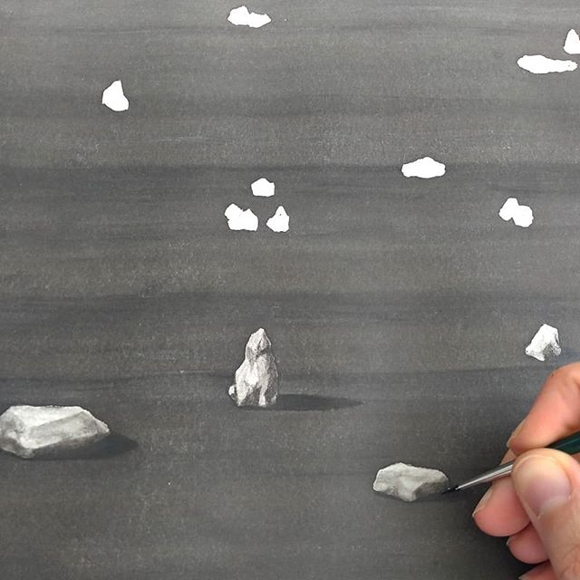 World.. get ready for ROCKS III. Soon to be seen at @exhibition.chronicle. Group exhibition opening 14th June 6pm onwards at Projektraum Bethanien, Mariannenplatz 2, Berlin-Kreuzberg. . . . . . . #inkdrawing #contemporarydrawing #blackandwhite #kunstinberlin #berlinexhibition #rocks