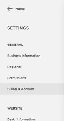 Billing & Account