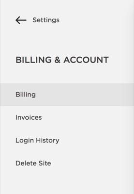 > Billing