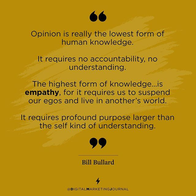 Found this as a wonderful reminder for #digitalmarketing. Our job is not to sell our services but to understand our customer needs and then help them find what their customer needs. #empathy