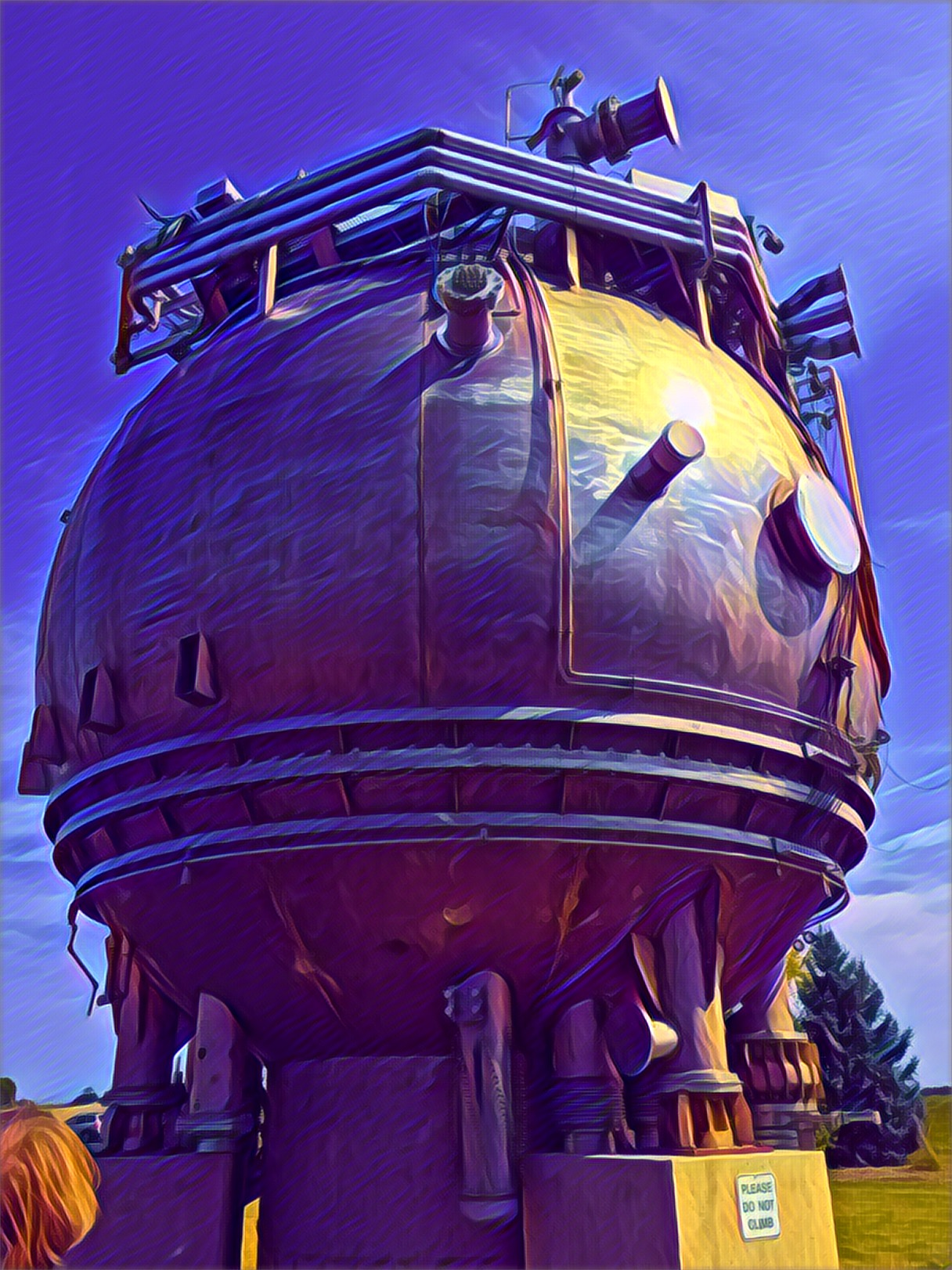 Fermlab's first particle detector. Photo by Gary Ricke, September 2017. iPhone 6s. Rendered with Prisma app