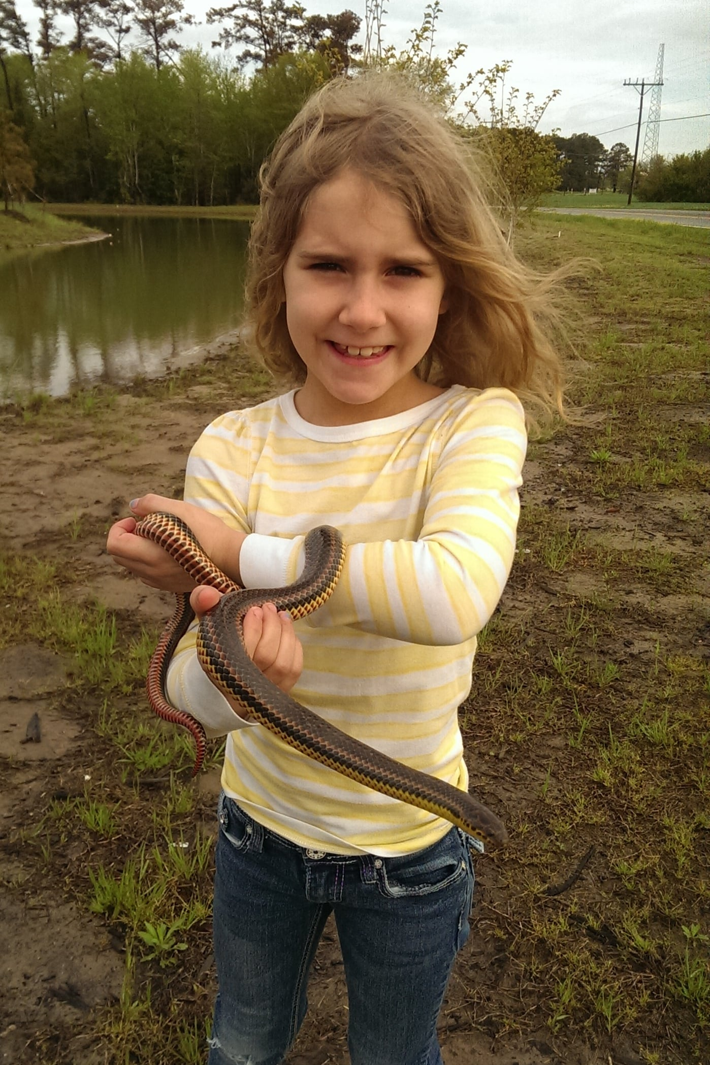 Common Rainbow Snake - I'm trying to keep the kid photos light, but this is a lifer Lily will enjoy having over her brothers for every second it stays that way.