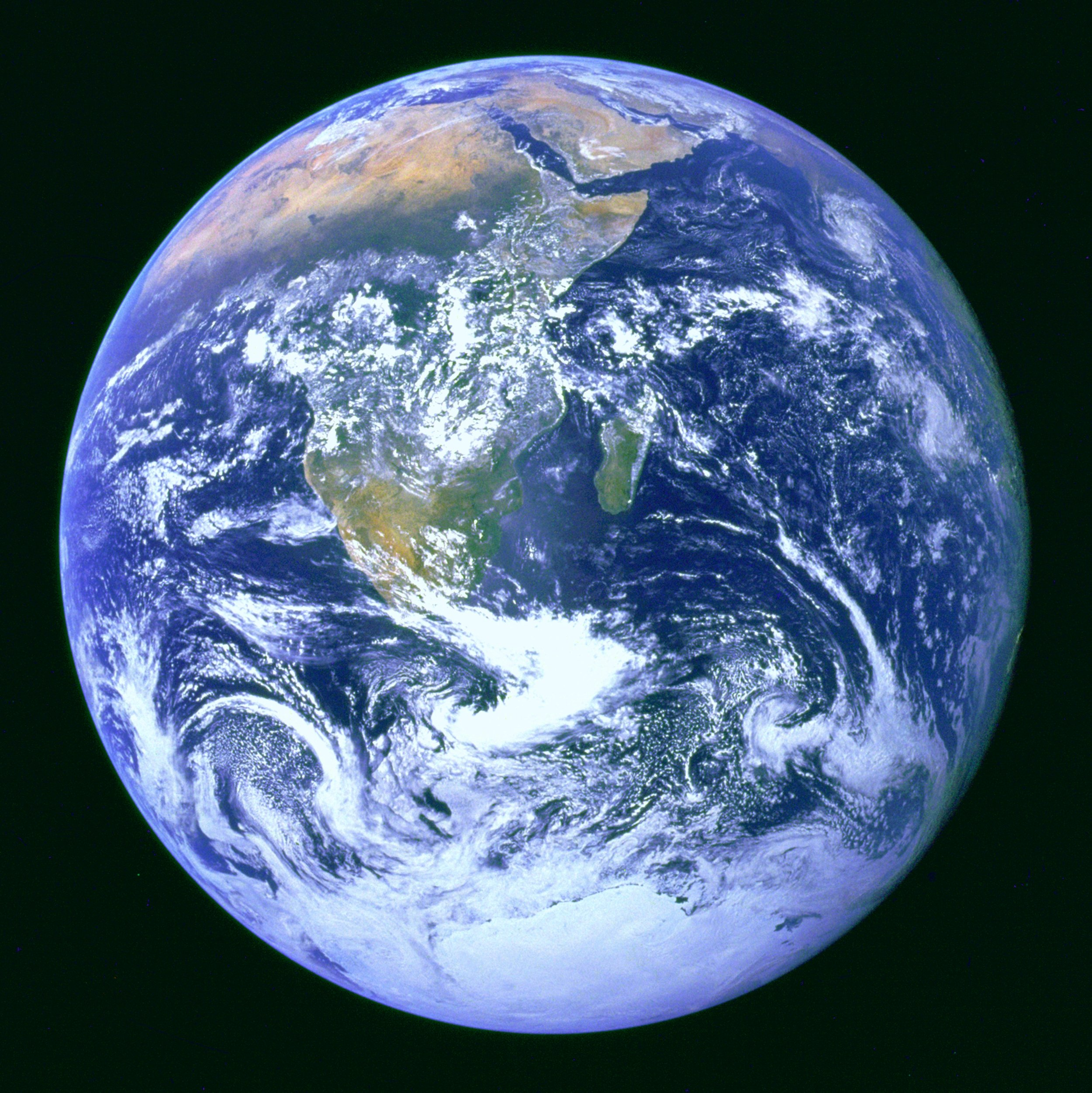 Image of The Blue Marble from Wikimedia Commons.