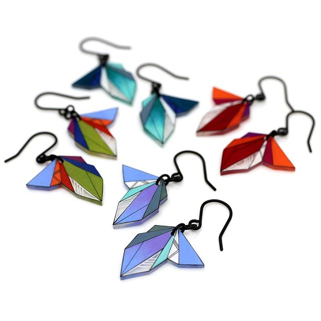 New spring dangles coming to @theroyalbison next weekend❤️ #royalbison #yeg #yegdesign #yegart #yyc #yycdesign #earrings #dangle #geometric #drawing #handmade #instadesign #instaart #art #madeincanada #design #artanddesign