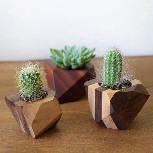 #TBT to our first geometric planters three years ago. Swipe for the progression towards integration of colours over the years! Last pictured planter is available on www.adrianmartinus.com  and we're currently running a 20% off sale our entire shop😎  #planter #woodplanter #geometric #housewares #homedecor #plants #plant #wood #woodworking #design #artanddesign #cactus #succulents #yyc #yycdesign #yycart #yycartist