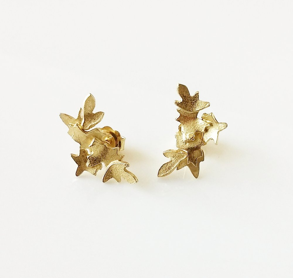 Fiona McAlear -  Garland ear studs. 18ct Gold plated Silver $120.jpg
