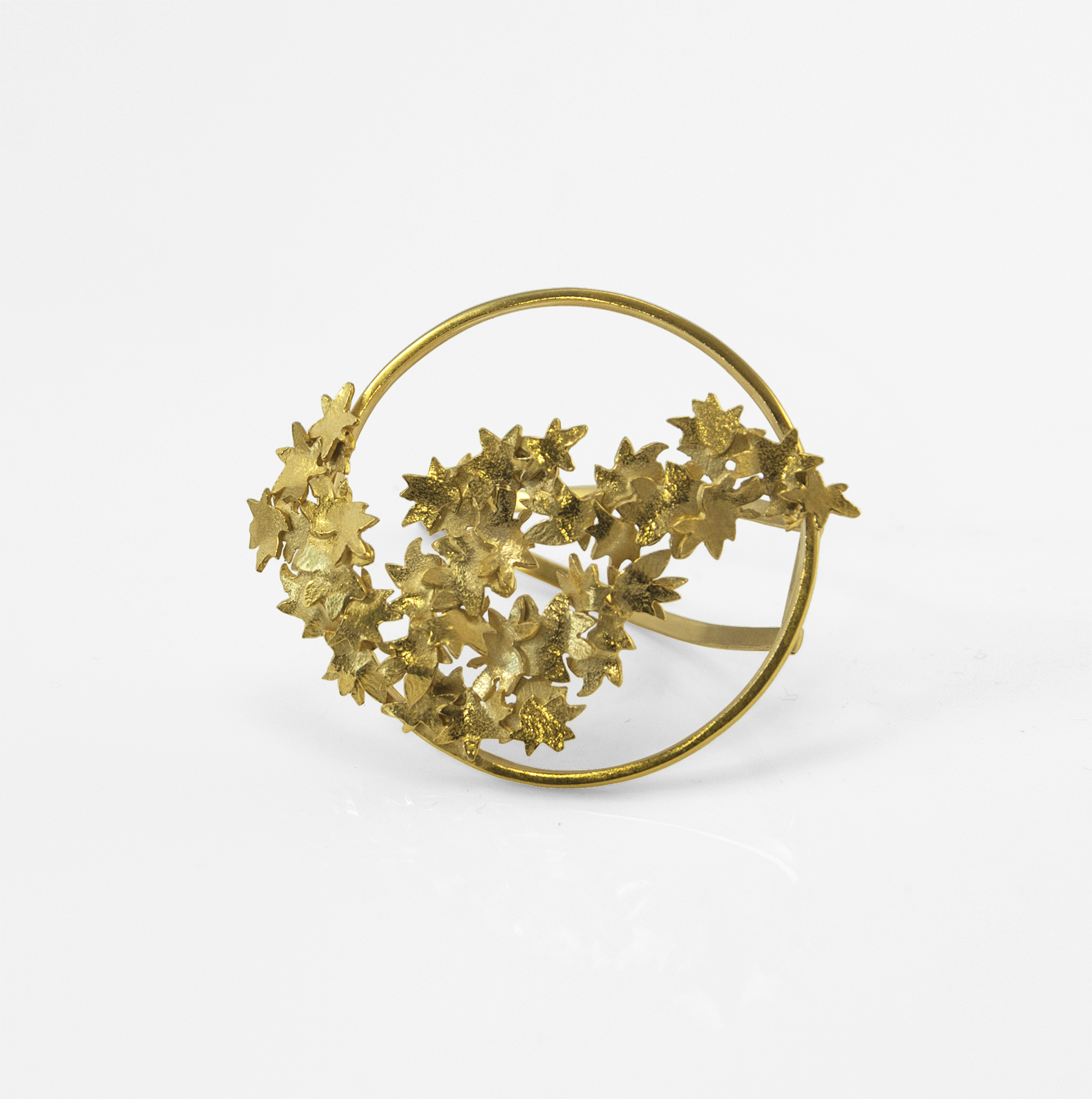 Fiona McAlear - Garland hair slide and brooch $485. 18ct Gold plated Silver.jpg
