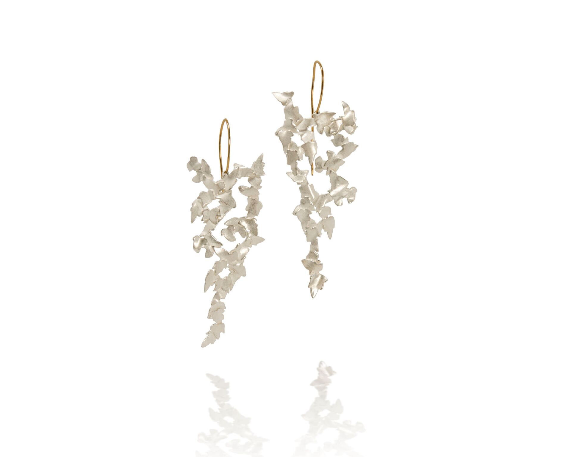 Fiona McAlear - Trailing Ivy earrings. Silver and 9ct Gold $690.jpg