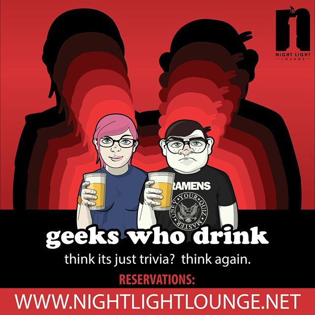 Trivia tonight! More than just a pub quiz! Make reservations on our website! @geekswhodrink #pdxtrivia #quiz #trivia