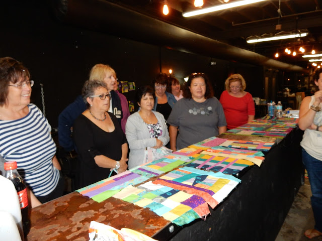 The group talked about layout ideas for everyone's finished blocks.