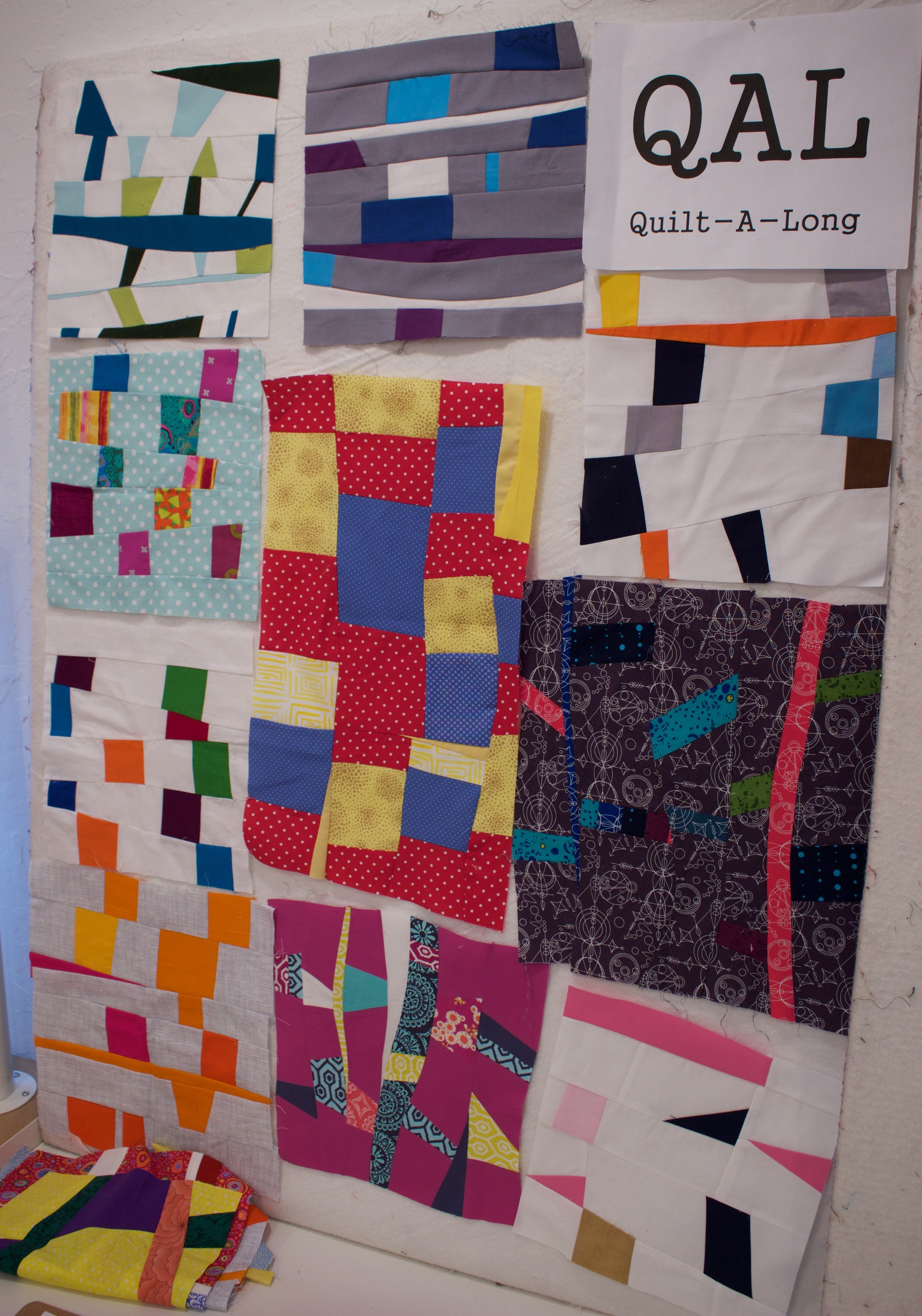 Quilt along blocks for July