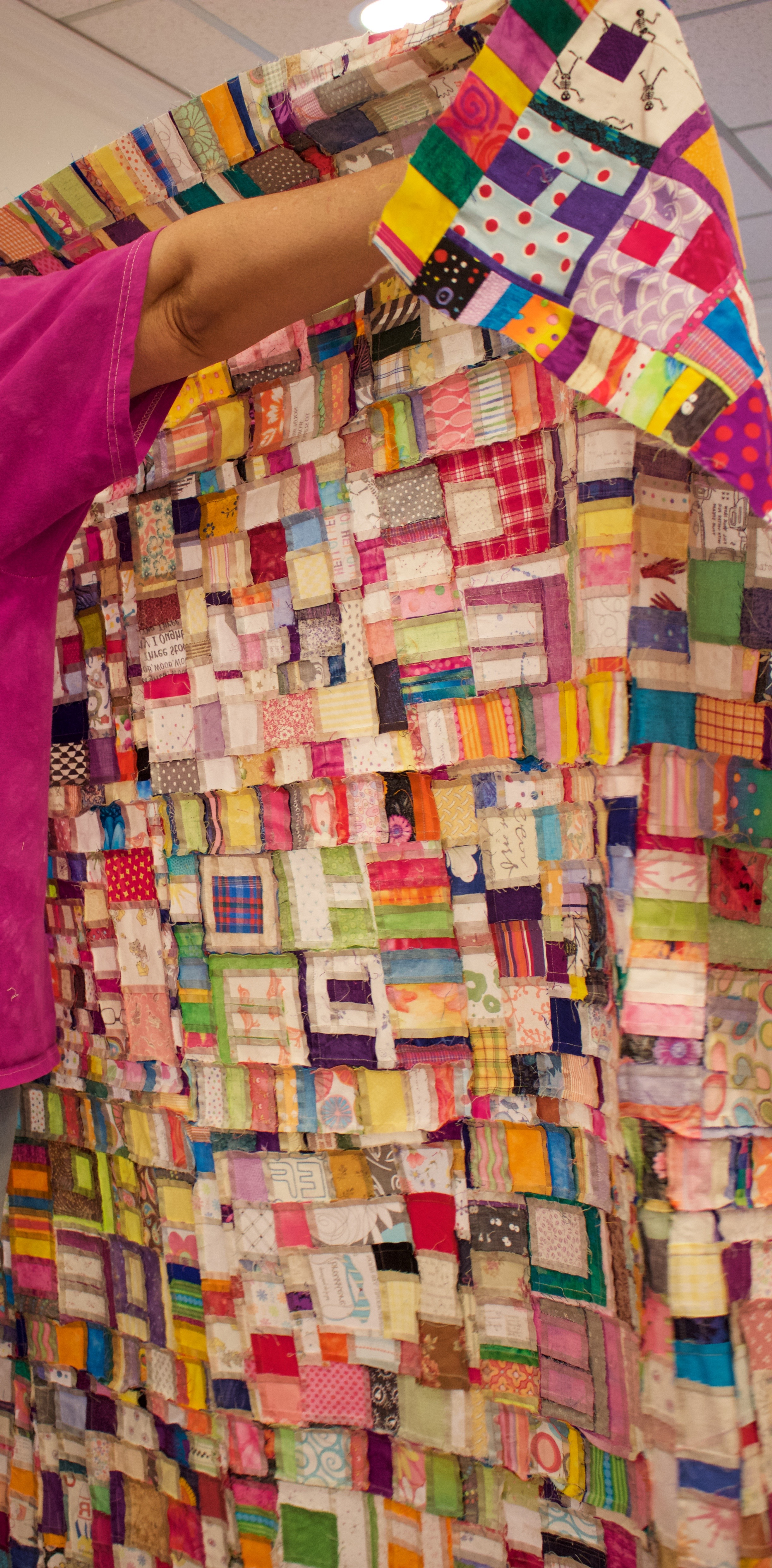 The back of one of Tonya's quilts