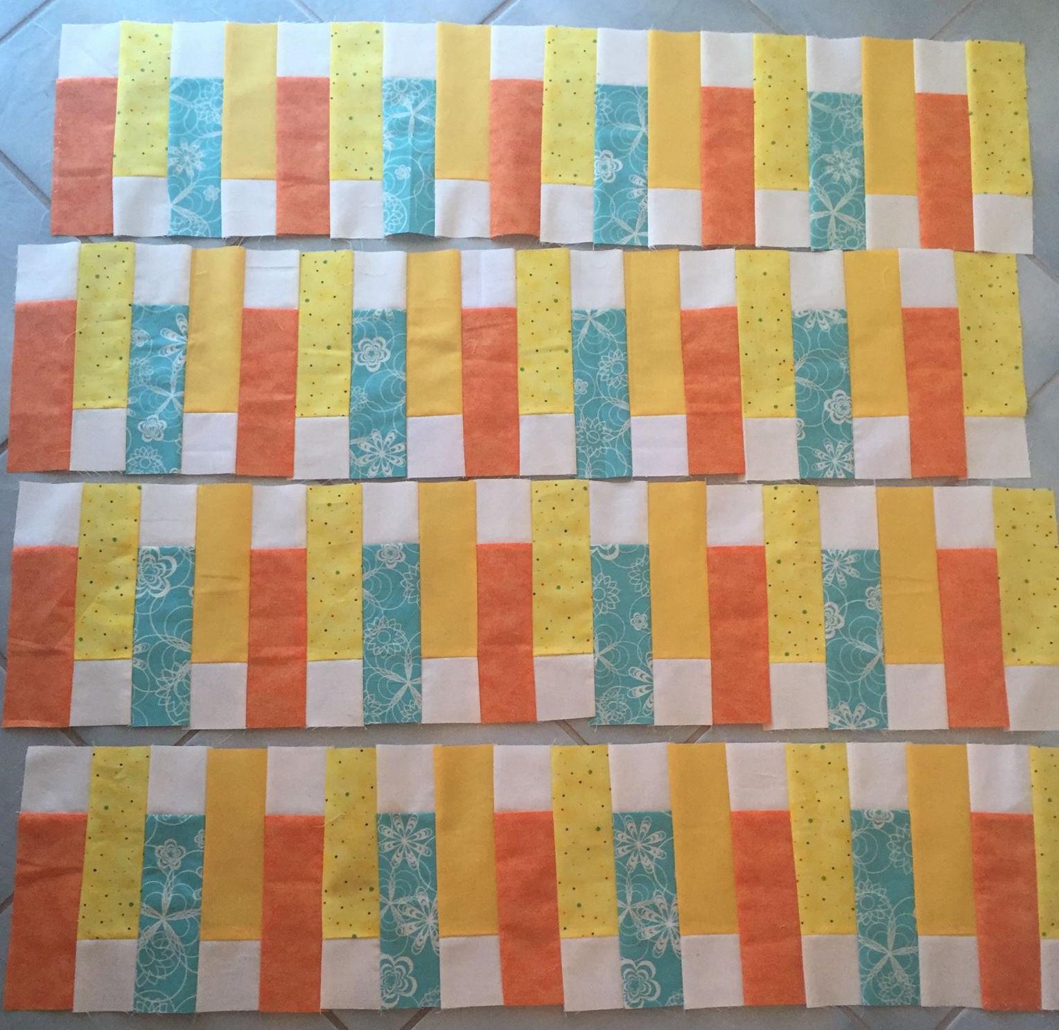 Sunset Ridge blocks made by Susan Capone