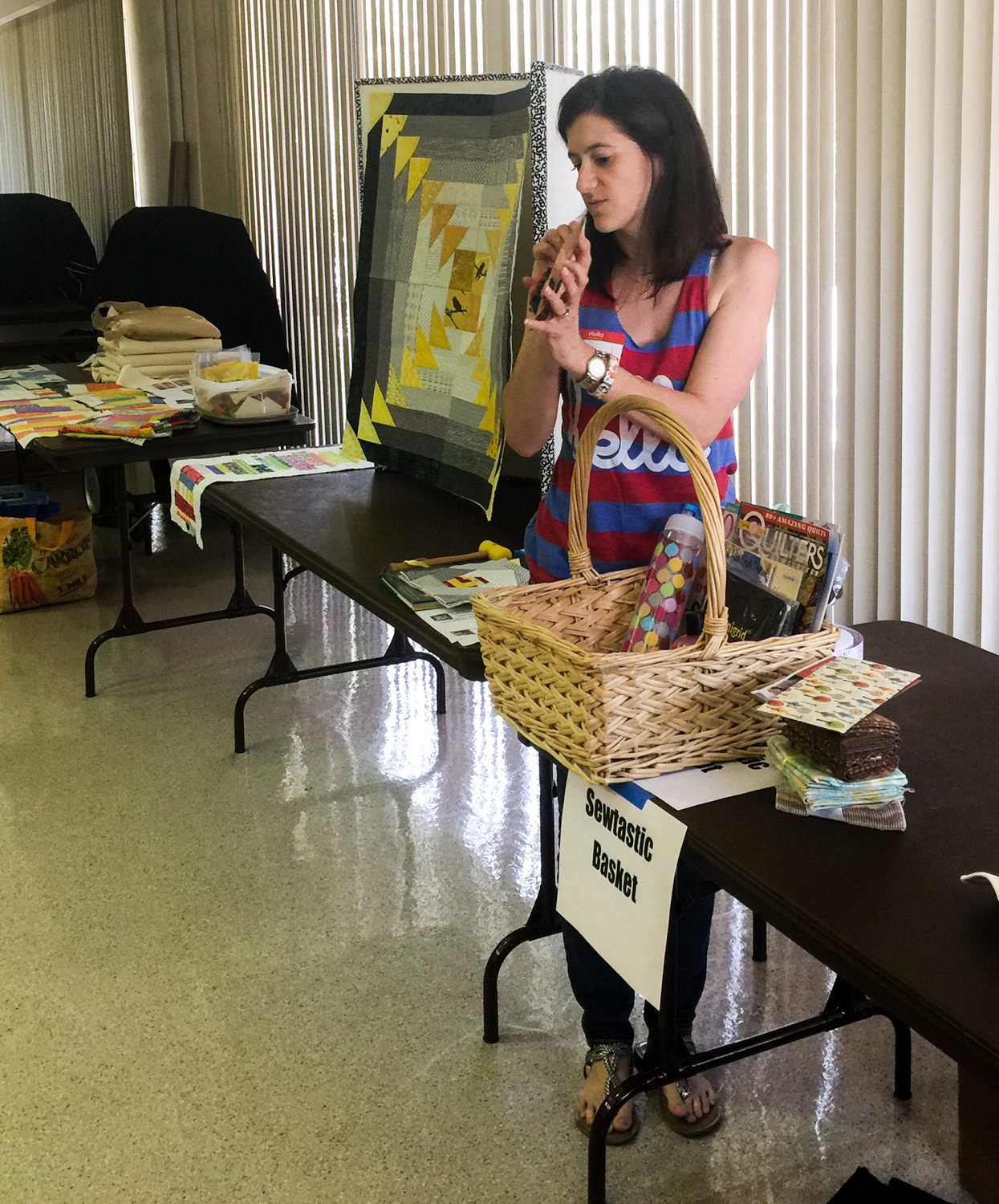 Sewtastic Basket coordinator Alyson Christianson shows us all the goodies.