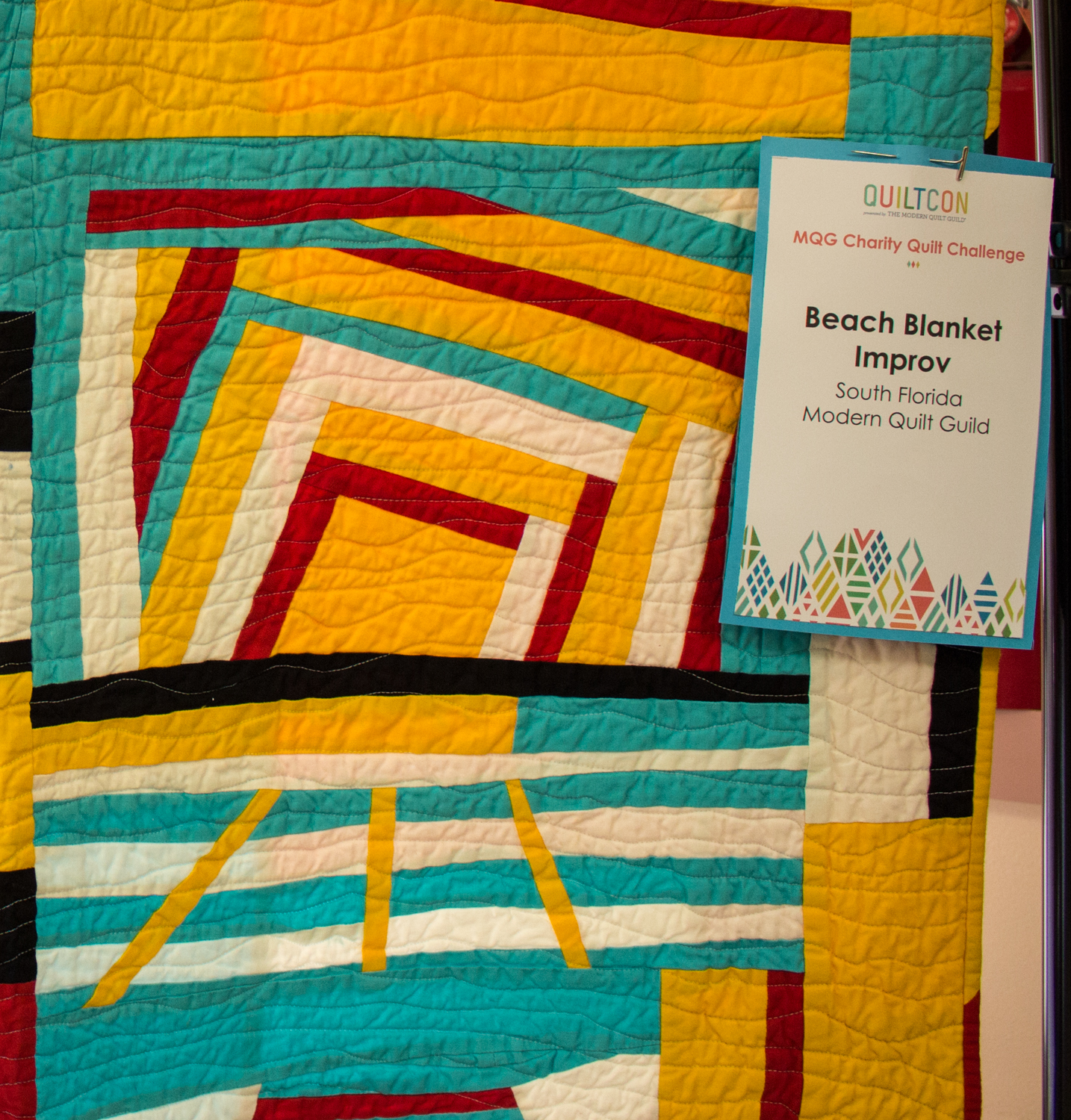 Our Quiltcon quilt made it home!