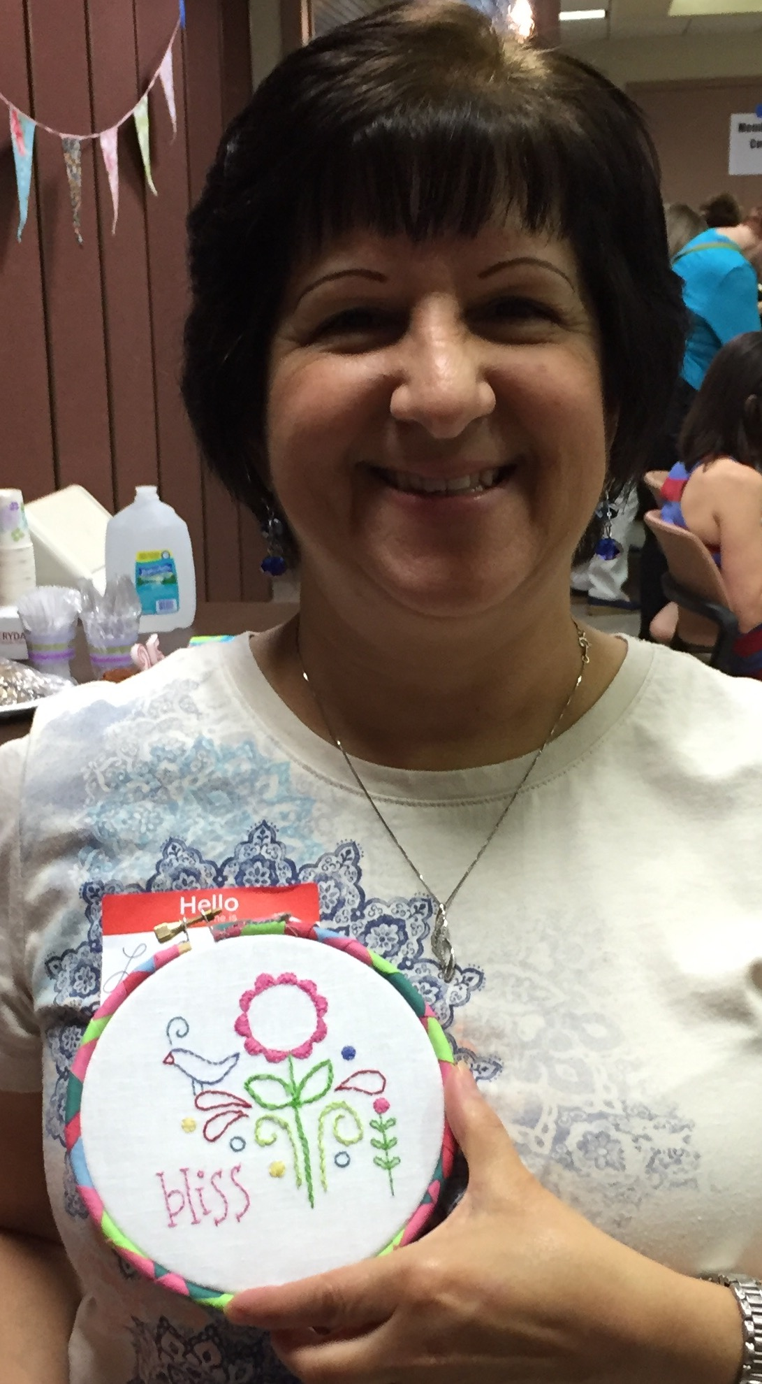 Red Thread Embroidery Challenge: LoriAnne Esposito
