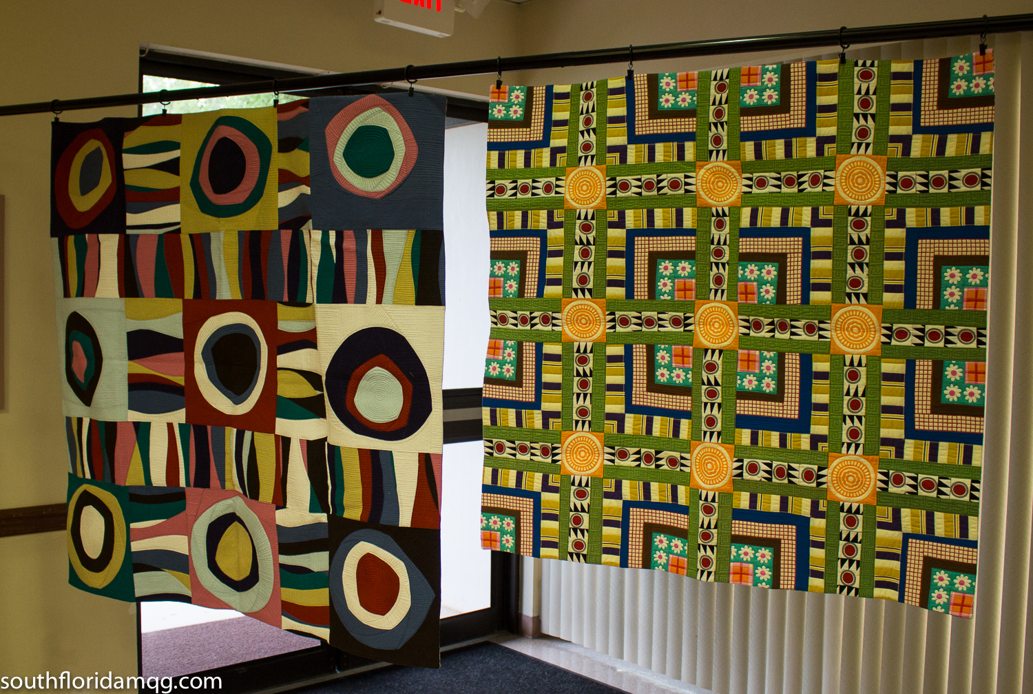 Two of Maria's beautiful quilts