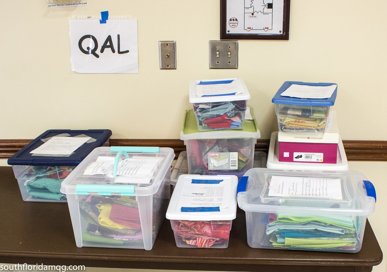 QAL boxes ready for exchanging