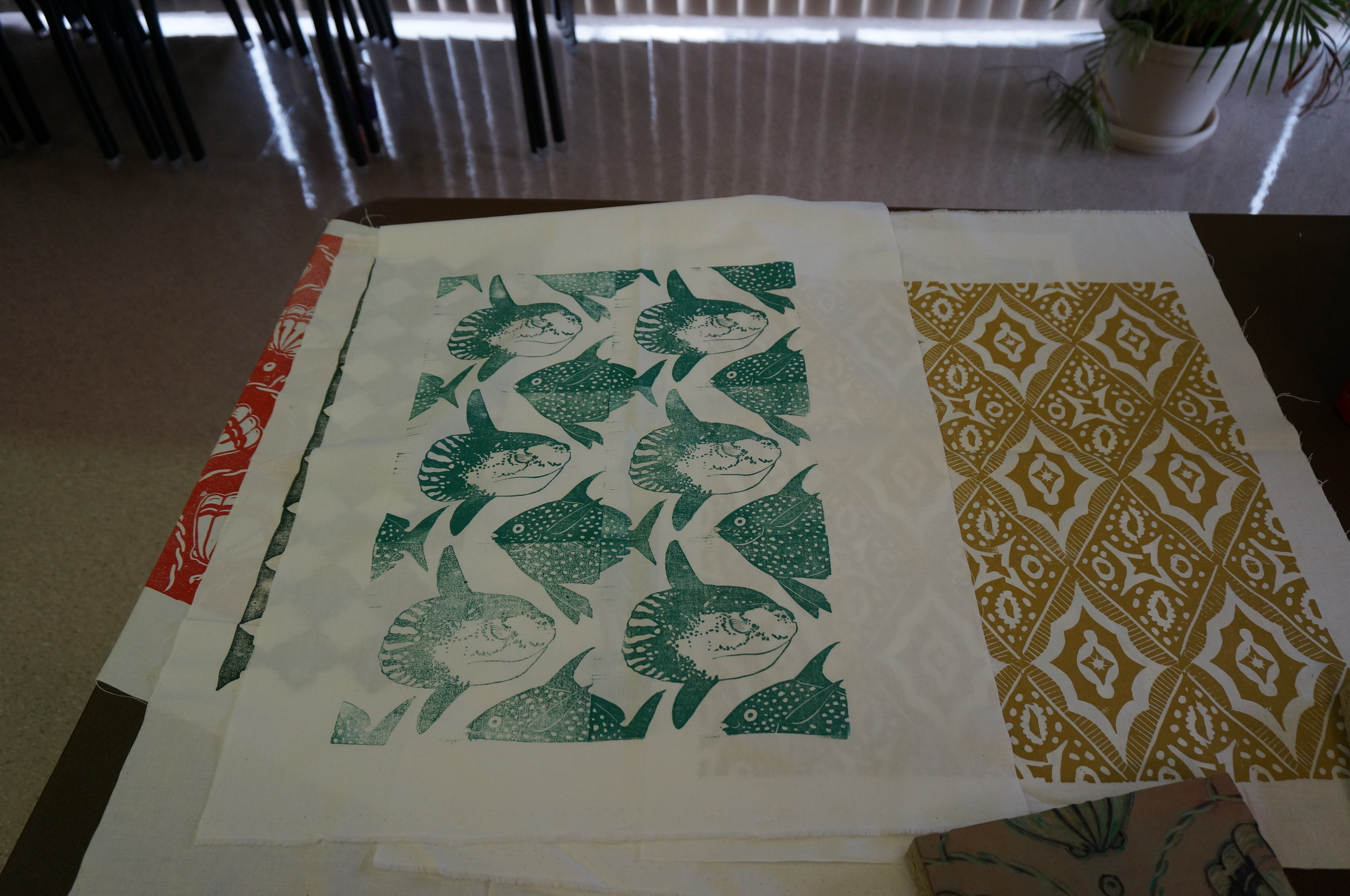 IS Projects, hand printed fabric