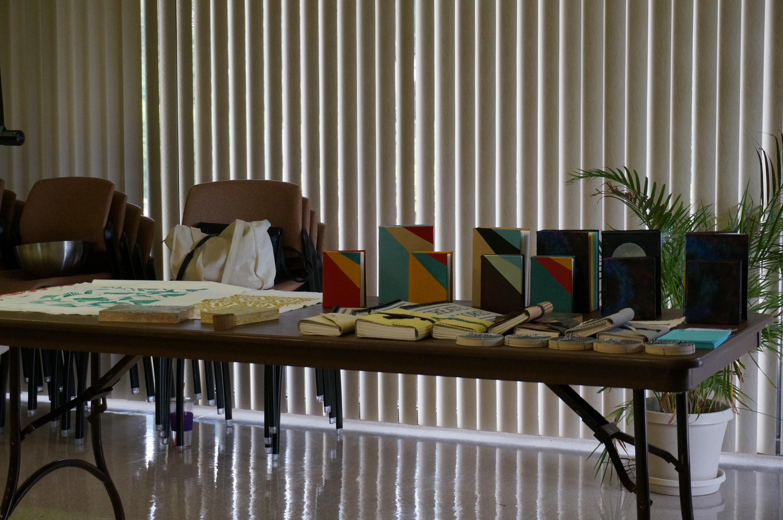 IS Projects fabric samples, handmade books and journals
