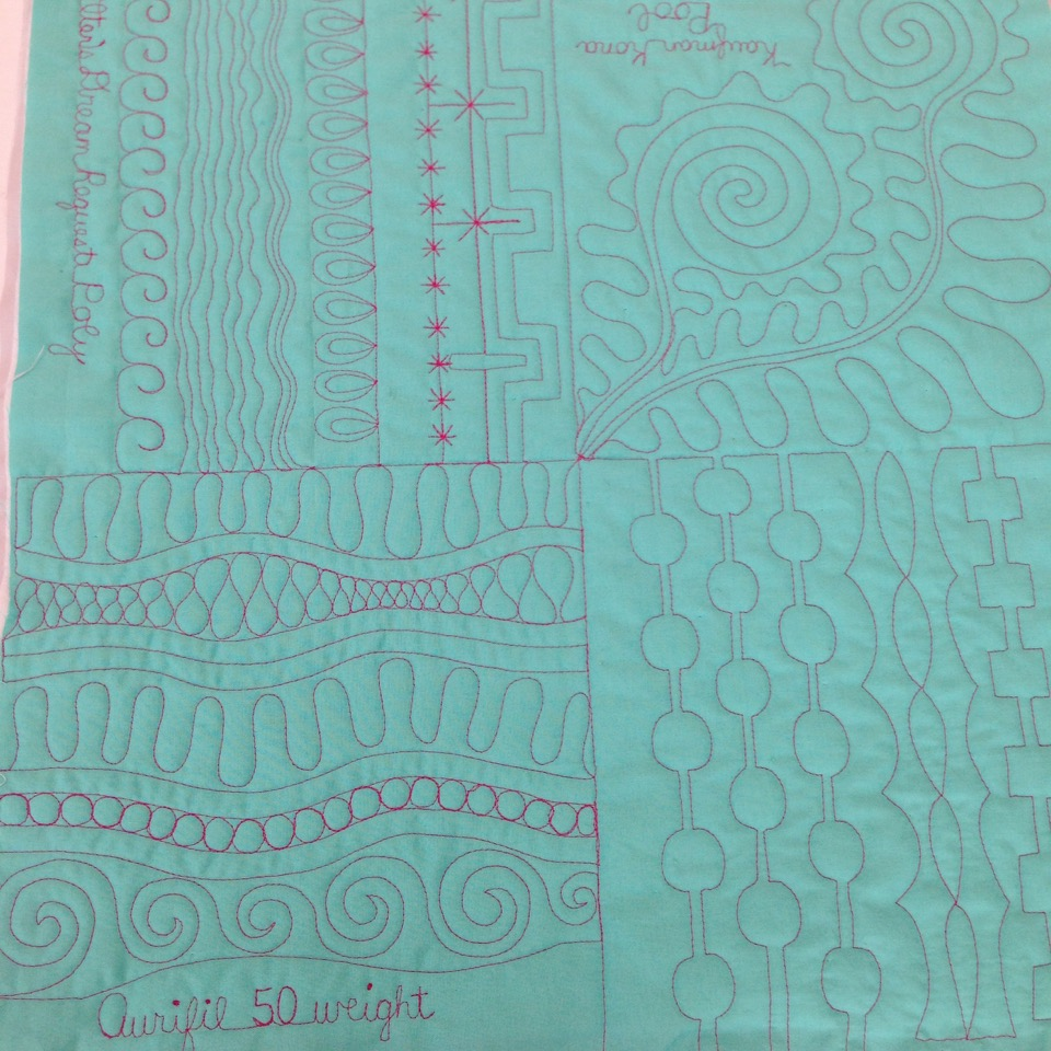 Free motion quilting sample.